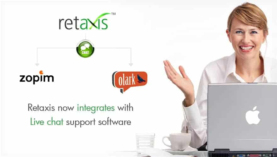 retaxis integrates live chat