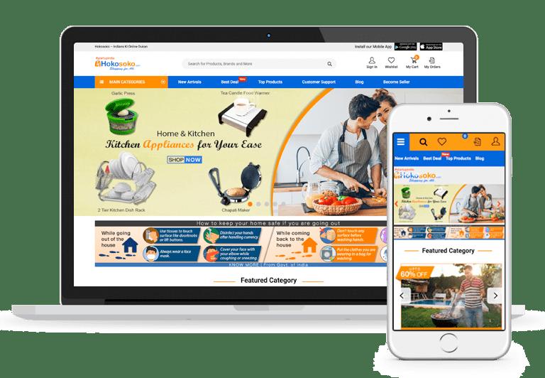 Hokosoko, B2C Ecommerce Marketplace for Online Shopping
