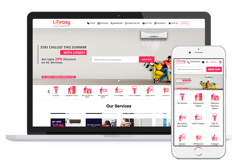 Lifeasy, B2c Marketplace for selling home services